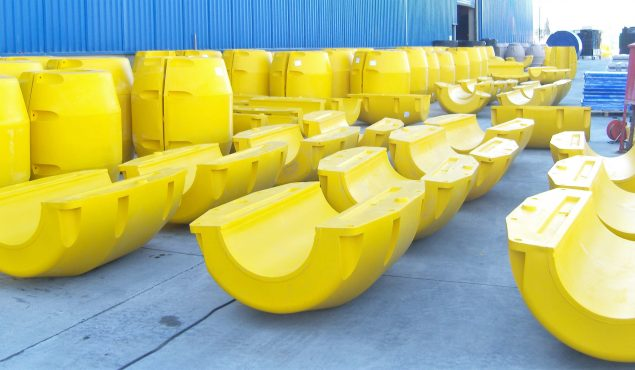 yellow pipe floaters