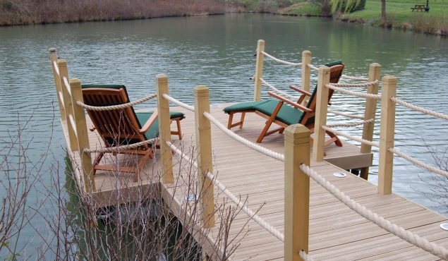 decked pontoon