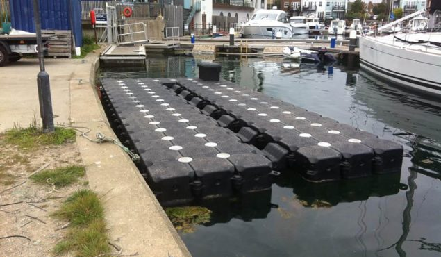 drive on v dock cube system