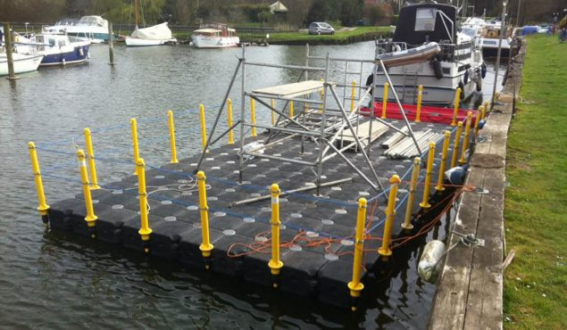 cube pontoon work platform