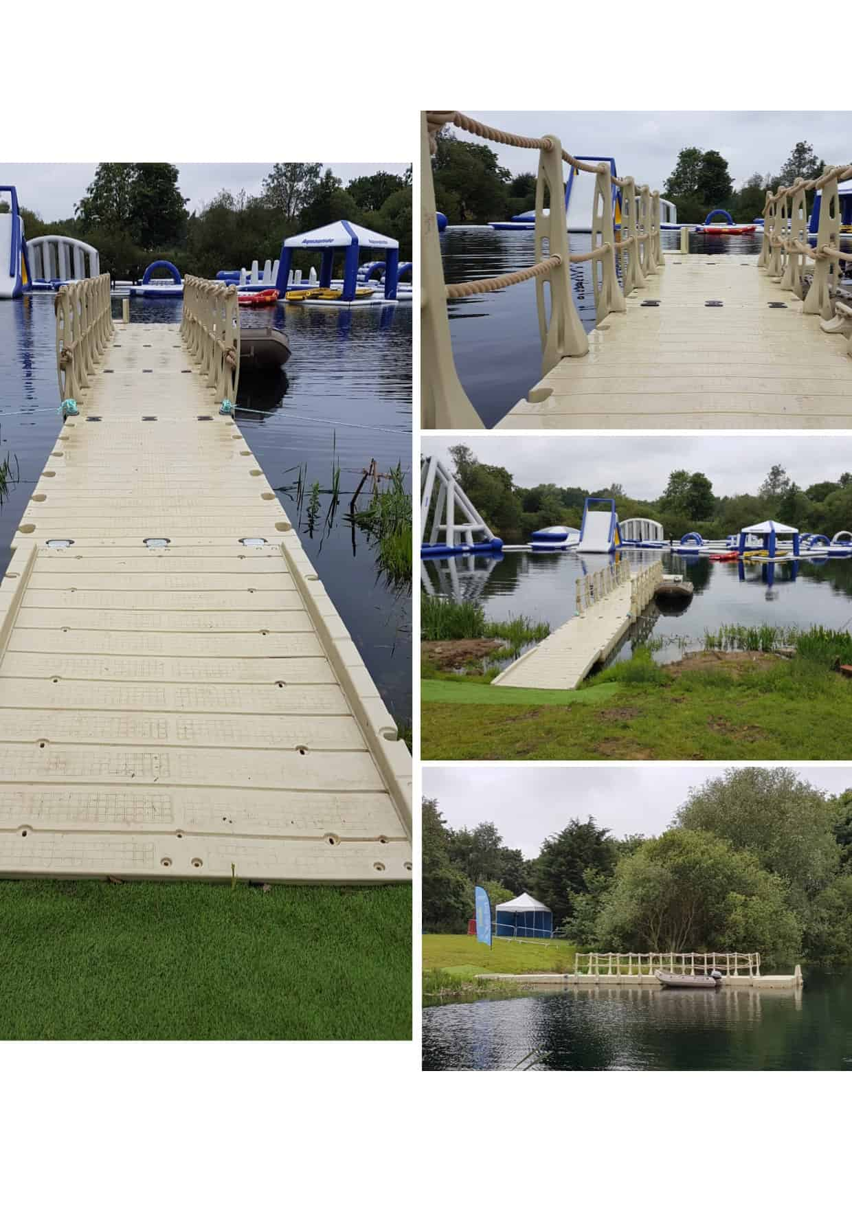 Lincoln Water park with Rotodock, gangway, handrails, ladders.
