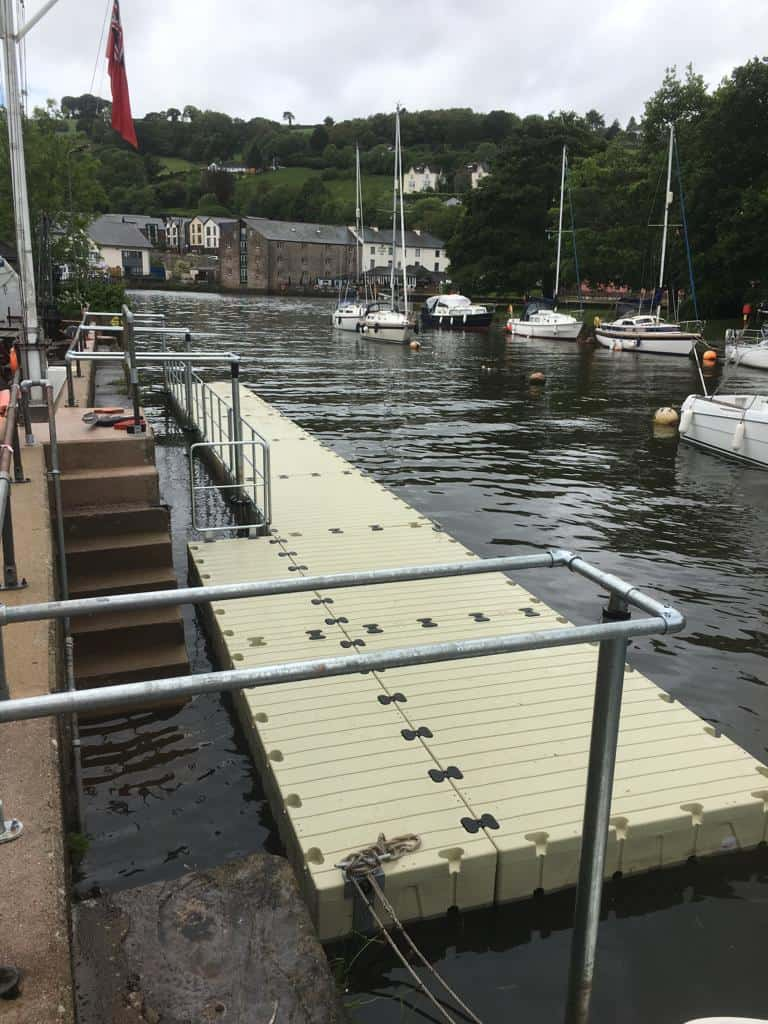 Rotodock with handrails and cleats for Totnes Boating Association