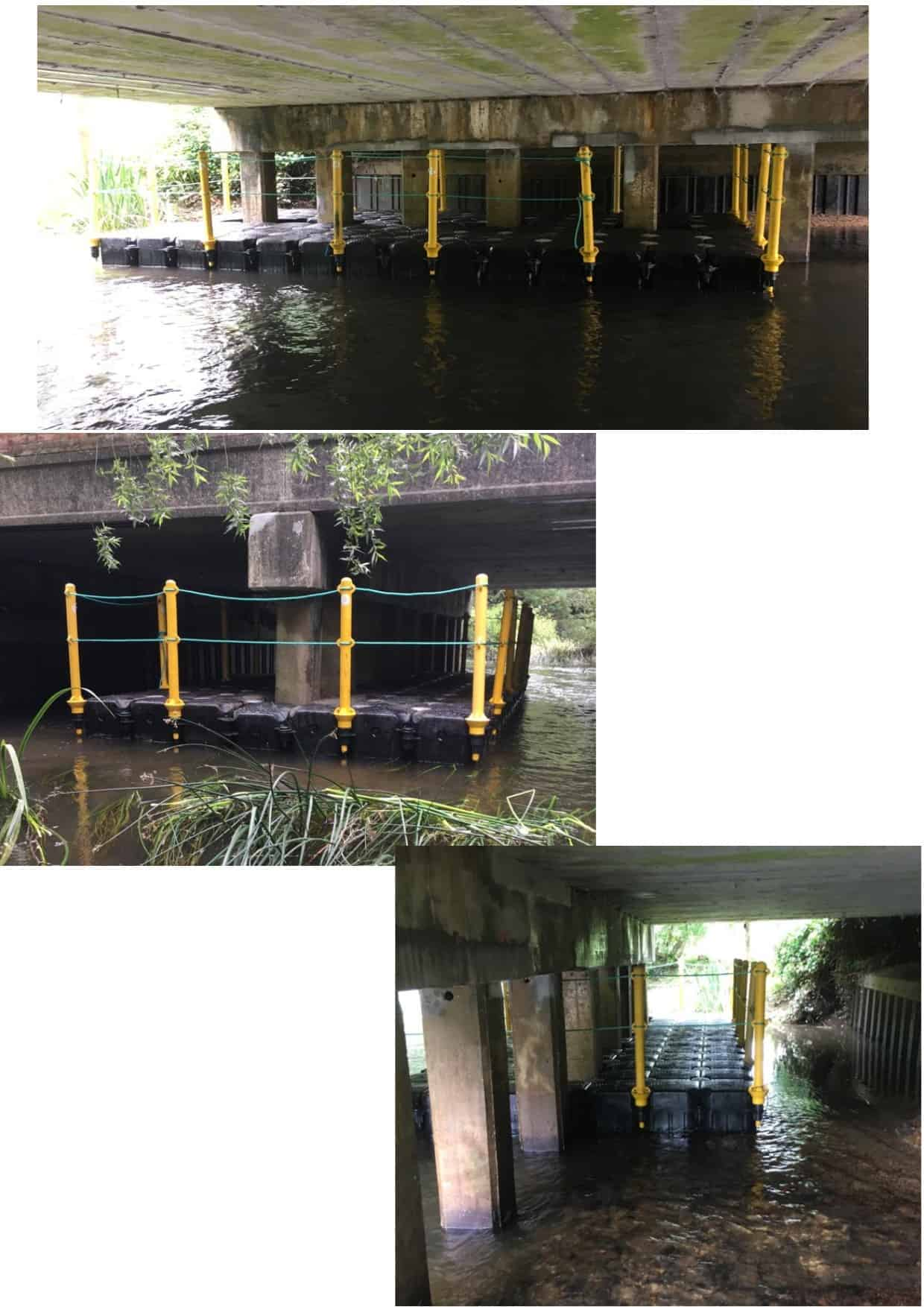 Swallowfield bridge repairs with modular cubes and handrails