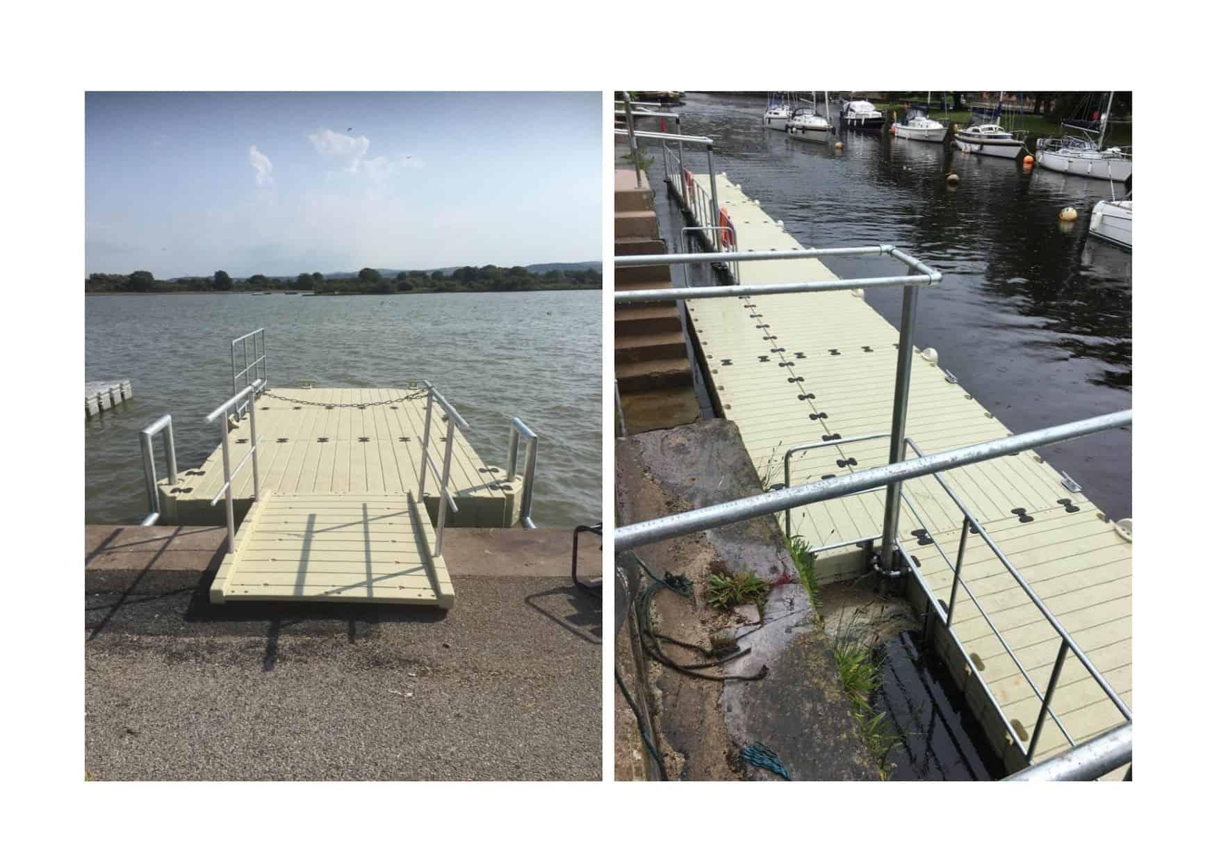 Rhyl and Totnes Rotodock pontoons
