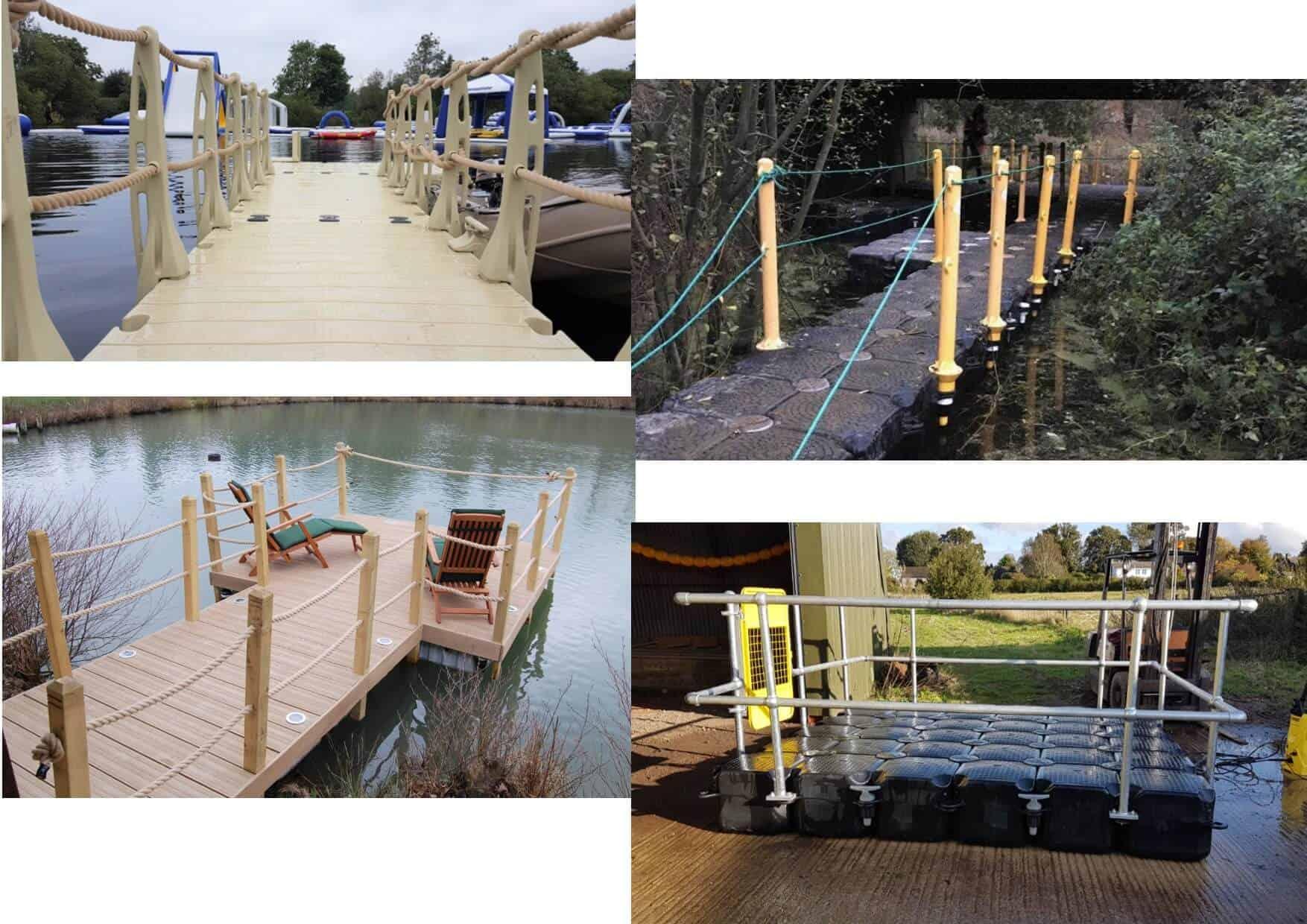 Handrails. Metal, HDPE, wooden, beige, yellow,