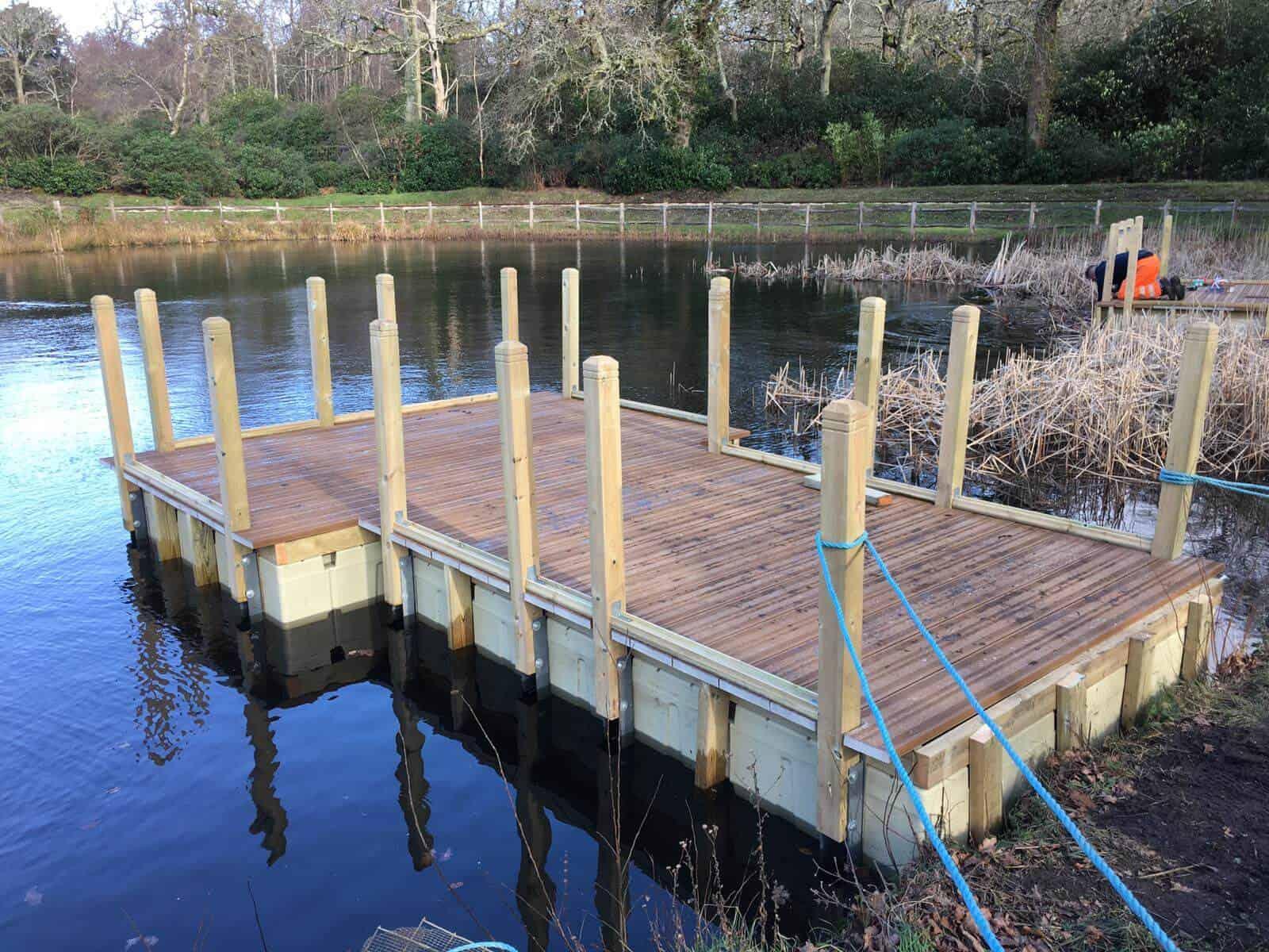 Exbury Gardens Rotodock decked pontoons