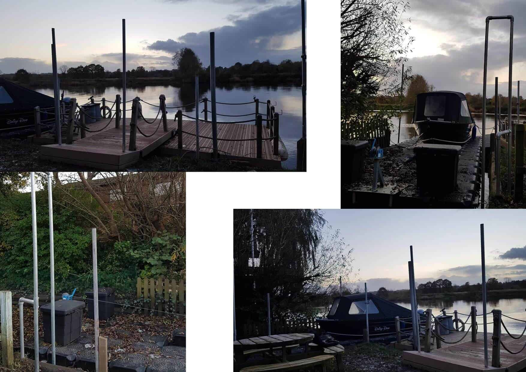 piling chester for decked pontoon and drive on dock