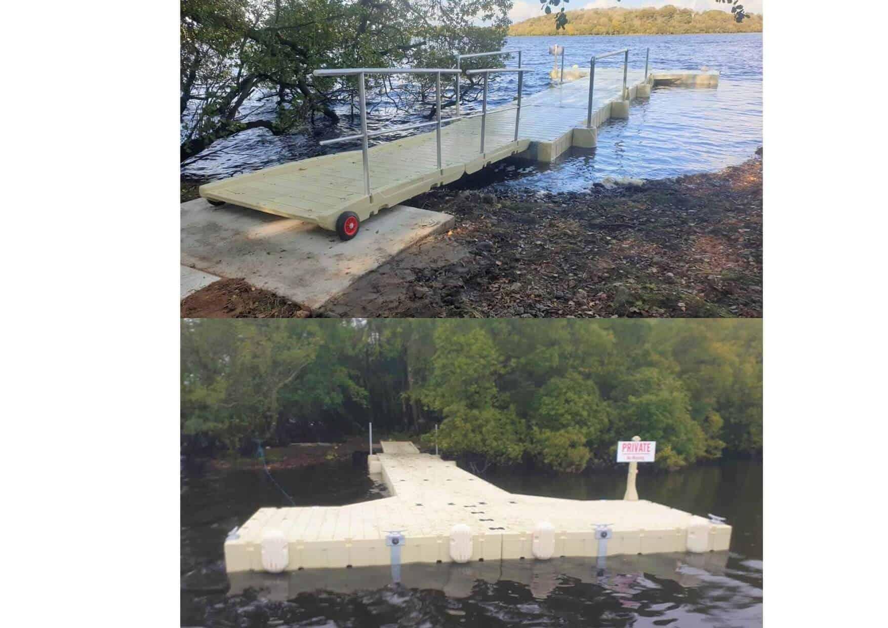 Pontoon Ireland Rotodock install, Loch Erne