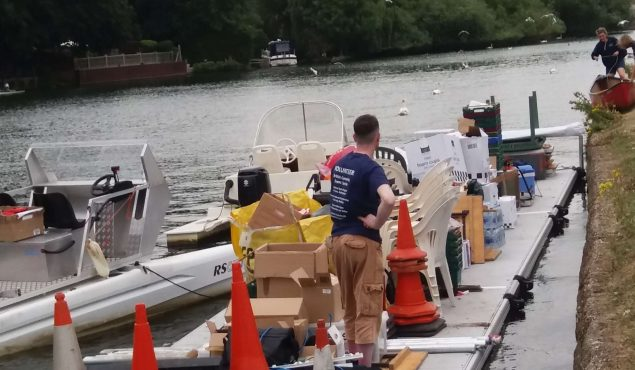 Easyfloat pontoon used for rowing event
