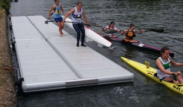 Easyfloat pontoon for rowing club