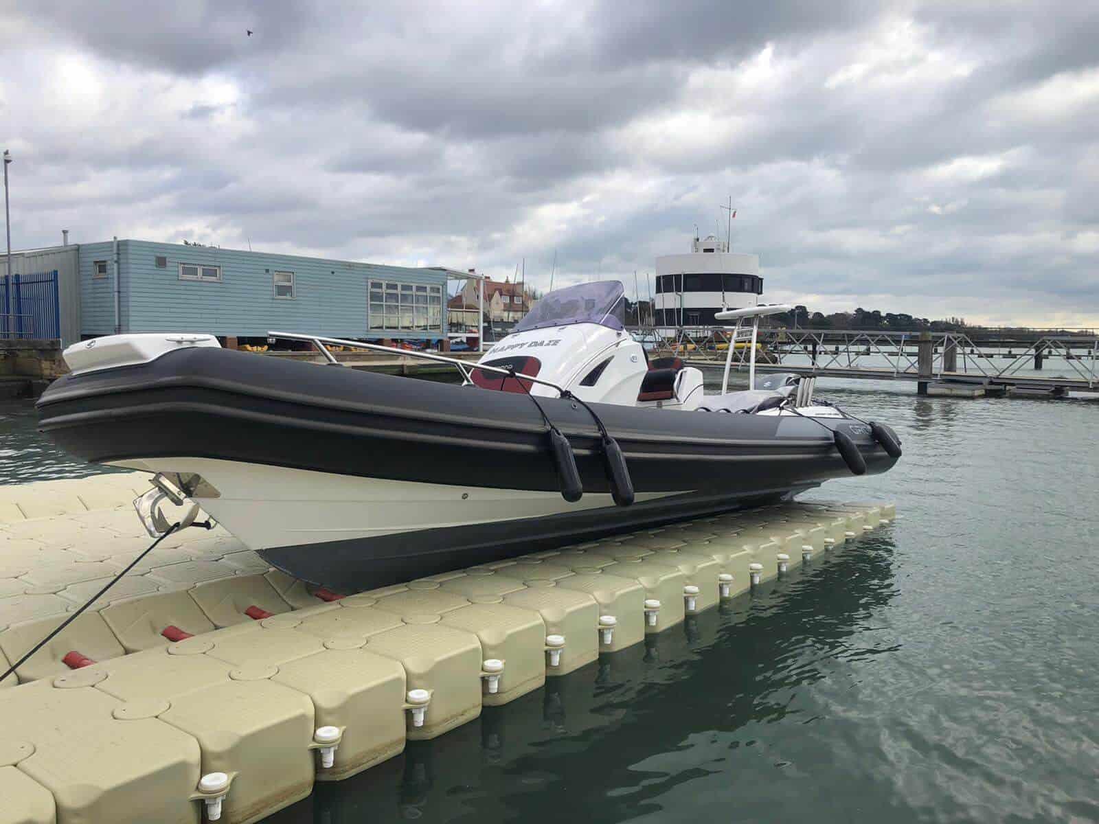 Flexiport Drive on Dock floating platform in Warsash